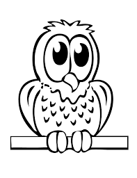 Easy Owl Coloring Pages For Kids