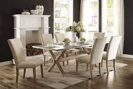 Gardner White Bedroom Sets by Amazon Com Homelegance Luella 7 Piece Dining Set 84 Inch Zinc Top