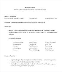 Geologist Resume Of A Zoologist Sample For Internship Luxury Marketing Objectives Accounting Student Mining