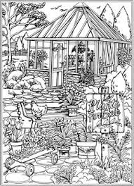 Welcome To Dover Publications Creative Haven Spring Scenes Coloring Book Colouring PagesAdult PagesColoring