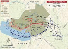 Battle Of Five Forks Civil War History Map
