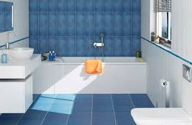 White And Blue Small Bathroom Floor Tile Combination Flooring With Plan 9