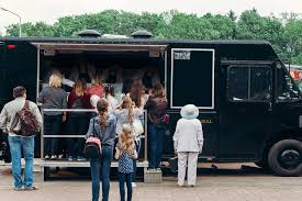 Customers Lined Up At A Food Truck - Tabak Insurance