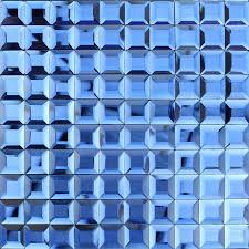 Blue Mosaic Bathroom Mirror by Blue Glass Mosaic Tile Backsplash Pyramid 3d Shower Wall Tiles