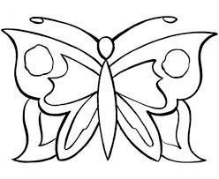 Simple Pattern Butterfly Coloring Pages