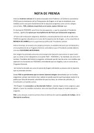 Comunicado Interno Normas Para Proyecto