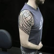Upper Arm Shoulder Mens Maori Tribal Tattoo