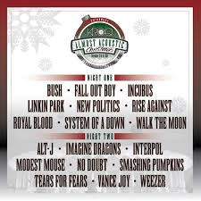 Smashing Pumpkins Acoustic Tour Setlist by The 25th Annual Kroq Almost Acoustic Christmas Lineup U0026 Event
