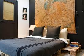 Houzz Bedrooms Bedroom Industrial With Black Wall Bedding