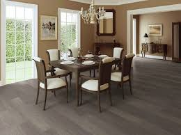 Dark Grey Laminate Flooring Maintain And Cleaning Tips In Dining Room With Brown Wall Paint