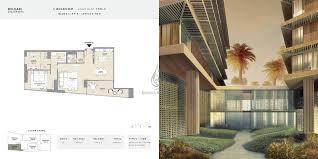 C Floor Plans by Bvlgari Apartments 2 Bedroom Type A B Floor Plans