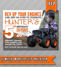 Jeep Birthday Invitations, Jeep Birthday Theme, Jeep Monster Truck ... Mr Vs 3rd Monster Truck Birthday Party Part Ii The Fun And Cake Monster Truck Food Labels Mrruck_party_invitions_mplatesjpg Unique Free Printable Grave Digger Invitations Gallery Marvelous Ideas At In A Box Cool Blue Card Truck Birthday Blaze The Machine Invitation On Design Of Jam Ticket Style Personalized 599 Sophisticated Photo Christmas Card