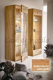 hängevitrine 51x145x36cm nyon rotkernbuche natur geölt vitrine gerundete form casade mobila