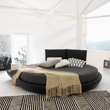 EuFabcom Miami Round Bed Black INTERIOR Bedroom