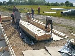 photos de chantier de maison en bois en kit