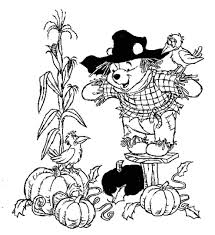 Winnie The Pooh Free Halloween Coloring Pages Disney