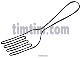 Free drawing of Kitchen Fork BW from the category Cooking Food & Drink TimTim