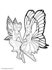 Barbie Mariposa Coloring Pages Printable Butterfly Fairy For Kids