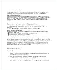 Good Objective Resume On Resumes Perfect For Samples My Goal Examples