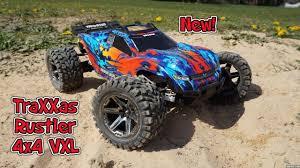 100 Traxxas Stadium Truck Rustler 4x4 VXL Brushless YouTube