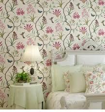 10 m amerikanischen stil schlafzimmer wand abdeckt moderne vintage rosa blumen tapete blau tropical schmetterling vögel blume wand papier