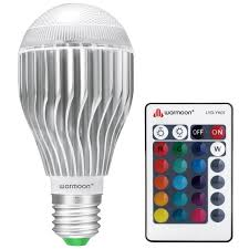 High Ceiling Light Bulb Changer Amazon by Warmoon E26 Led Light Bulb 10w Rgb Color Changing Dimmable Led