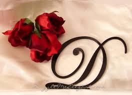 Modern Concept Letter Cake S For Weddings With Black Monogram Wedding