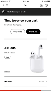 Apple Airpods On Sale In My Verizon App For $119.98 $127.98 ... Galaxy Note 10 Preview A Phone So Stacked And Expensive Untitled Wacoal Coupons Promo Codes Savingscom Verizon Upgrade Use App To Order Iphone Xs 350 Off Vetrewards Exclusive Veterans Advantage Total Wireless Keep Your Own Phone 3in1 Prepaid Sim Kit Verizons Internet Boss Tim Armstrong In Talks To Leave Wsj Coupon Code How Use Promo Code Home Depot Paint Discount Murine Earigate Coupon Moto G 2018 Sony Vaio Codes F Series Get A Free 50 Card When You Buy Humx