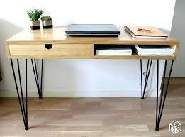 bureau en bois design bureau bois scandinave bureau bois naturel console bureau bois