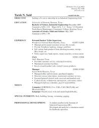 Resume Objective Examples Teller Position Also Banking To Make Cool For Teachers Jobs 181