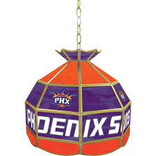 Home Depot Tiffany Style Lamps by Trademark Global Phoenix Suns Nba 16 In Nickel Hanging Tiffany