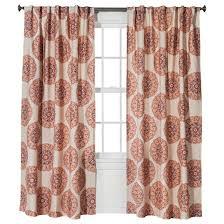 naturals medallion curtain panel red orange 54 x84 threshold