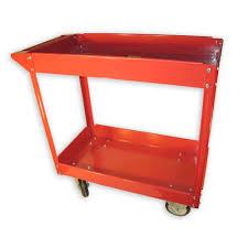 100 Service Truck Tool Drawers Metal Utility Cart Rolling 2 Shelf Steel Garage Storage 600 Lb