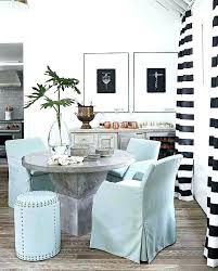 Cottage Dining Room Curtains Black And White Striped With