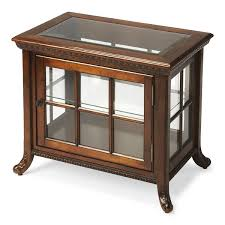 butler plantation cherry chair side curio cabinet reviews wayfair