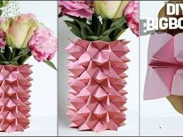 How To Make Flower Vase Using Paper 2018 Step By Crafts