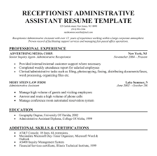 Sample Resume For A Receptionist Admin Sales Lewesmr