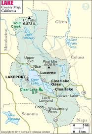 Lake County Map Of California