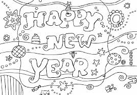Good New Year Coloring Pages 35 For Adults With