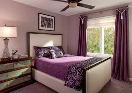 Amazing Purple Curtain And White Bed Inside Contemporary Bedroom Ideas With Mattress Wooden Dresser