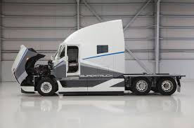 """Daimler Builds Twice-As-Efficient """"SuperTruck"""" Class 8 Semi Photo ... Black Hybrid Truck On Highway Stock Illustration Of Wrightspeed Hybdelectric Trucks Are The Cutting Edge Volvo Concept Gets 30 Percent Cleaner From New Hybrid This Is Teslas Big Allectric Truck Tesla Semi Tecrunch Lighter Aero Concept More Fuelefficient Commentary Electric Trailer Cant Compete Fortune Electrification System Can Be Installed Long Haul Best 2019 Picture Car 2018 Is Comingand So Are Everyone Elses Wired News Hyundai Fuel Cell Shown In Germany Clean Fleet Report Nikolaonehybridtruck5jpg 1087725 Vehicles Pinterest"""