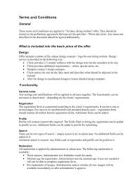 Simple Terms And Conditions Template Agreement Sample Of Employee Contract