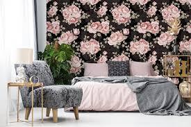 rosa spielen schwarz spielen für schlafzimmer tapeten
