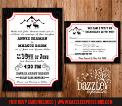 Rustic Elk Love Wedding Invitation