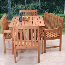 5 Piece Dining Room Set With Bench by Safavieh Bradbury Teak Brown 5 Piece Patio Dining Set With Beige