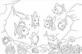Ocean Coloring Sheets Fish Printable Pages Design Of Within