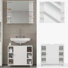 vicco badmöbel set fynn weiß badezimmer spiegel waschtisch unterschrank bad badschrank