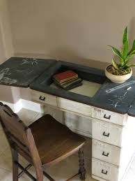 Sewing Cabinet Plans Build by Revamp An Old Sewing Cabinet And Piano Chair Into An Adorable Desk