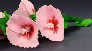Make Stunning Hollyhock Mallow Flowers Out Of Paper With The Help Crafting Hours A Bouquet Homemade Flower Work As Small Gift In Extra To Brilliant