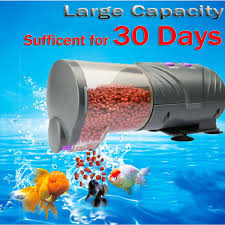 30 Days Automatic Fish Food Feeder LCD Auto Timer Pet Aquarium Tank